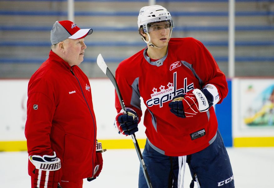 Captain Alex Ovechkin and coach Bruce Boudreau are among the Washington holdovers from when the Capitals faced New York in the 2009 playoffs. The two teams meet again in an Eastern Conference quarterfinal series starting Wednesday. (Rod Lamkey Jr./The Washington Times)