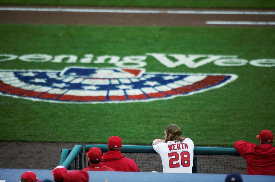 CAPITAL INVESTMENT: The Nationals lured right fielder Jayson Werth from the Philadelphia Phillies with a seven-year, $126 million deal. Washington has gone 21-51 against rival Philadelphia since 2007. (Rod Lamkey Jr./The Washington Times)