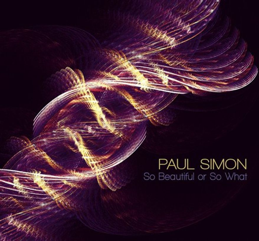 """In this CD cover image released by Concord Music Group, the latest release by Paul Simon, """"So Beautiful or So What,"""" is shown. (AP Photo/Concord Music Group)"""