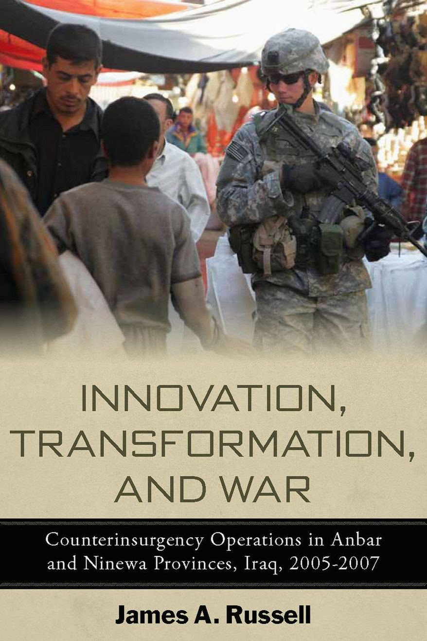 U.S. unit commanders in Iraq devised their own counter-insurgency tactics, author James A. Russell says in a new book.