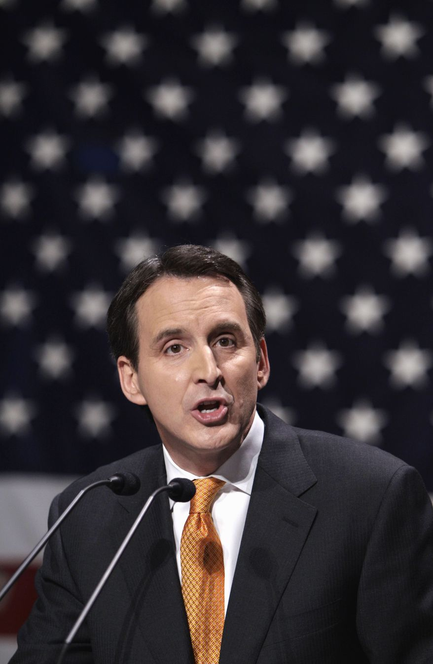 ** FILE ** In this March 7, 2011, file photo, former Minnesota Gov. Tim Pawlenty speaks in Waukee, Iowa. Pawlenty moved quickly Tuesday, April 12, 2011, to knock down a CNN story that appeared to show him officially entering the race. (AP Photo/Charlie Neibergall, File)