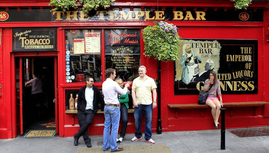 A trip to Ireland that might include visits to well-known spots such as Dublin's Temple Bar is a more affordable option than in the Emerald Isle's Celtic Tiger economic boom. With hotel speculators and banks in bankruptcy, more than 350 hotels now belong to the government and foreign banks, and savvy online shoppers can find below-market rates even in the heart of Dublin. (Associated Press)