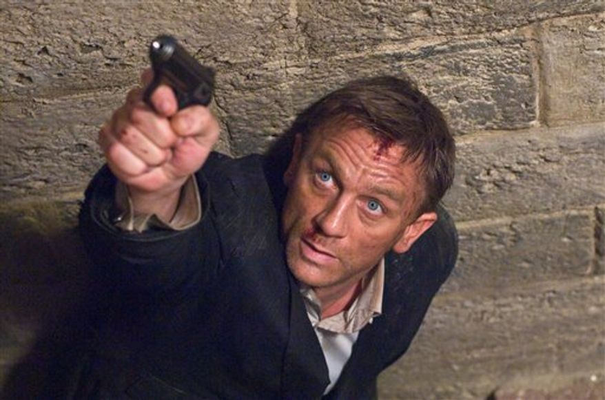 "FILE - In this undated film publicity image released by Sony Pictures, Daniel Craig portrays James Bond in a scene from  ""Quantum of Solace"". (AP Photo/Sony, file)"