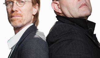 Anders Roslund (left) and Borge Hellstrom