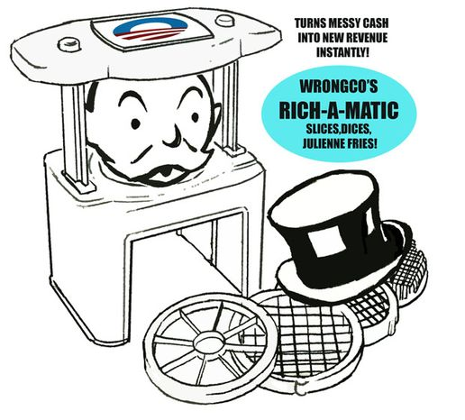 Illustration: Wrongco Rich-a-matic by Alexander Hunter for The Washington Times