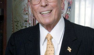 William A. Rusher, a conservative strategist for more than 50 years and editor of the National Review for 31 years, died Saturday in San Francisco. (The Claremont Institute via Associated Press)