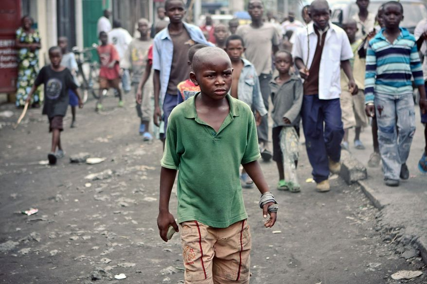 Children rioted in the streets of Goma demanding the promised free education from the government of the Democratic Republic of the Congo. Whether or not they escaped the pull of militias that followed the official end of Second Congo War, they have grown up seeing violence as the solution to unmet demands. (Lindsay Branham/Special to The Washington Times)