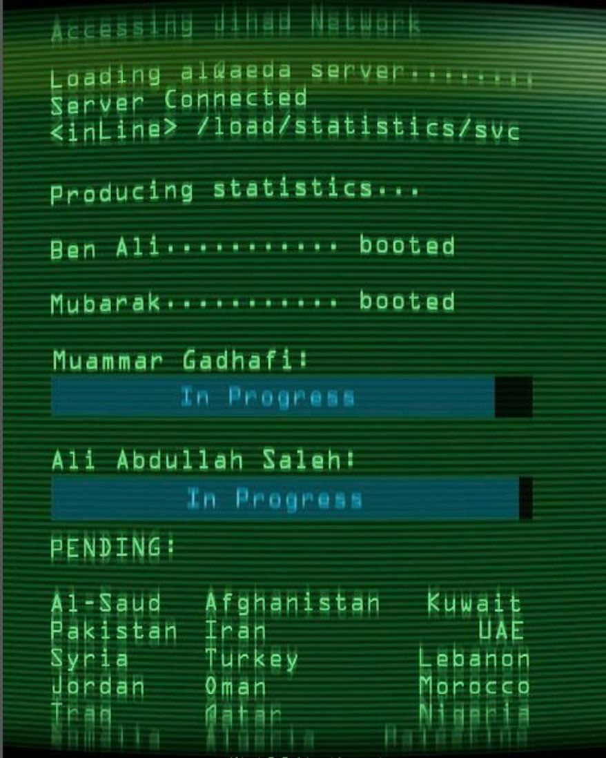 "Graphic of ""Jihad 2.0"" in the Spring 2011 edition of the al Qaeda English-language magazine ""Inspire"""