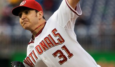 The Nationals-Cardinals game scheduled for Tuesday night was postponed and will be made up Wednesday as part of a day-night doubleheader. John Lannan will take the mound for Game 1 against Jake Westbrook. (Associated Press)