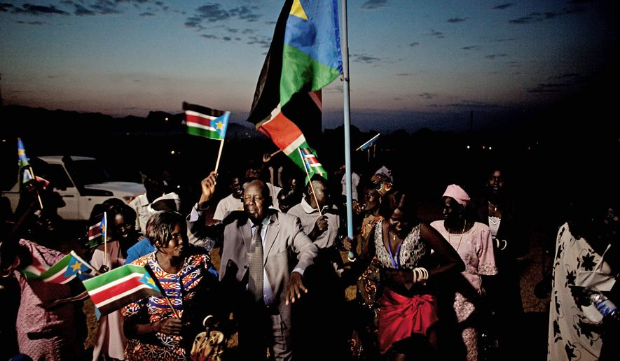 Southern Sudanese citizens celebrate the announcement of independence referendum results in the southern capital of Juba on Feb. 7. Referendum officials said that nearly 99 percent of all voters cast ballots in favor of southern independence.