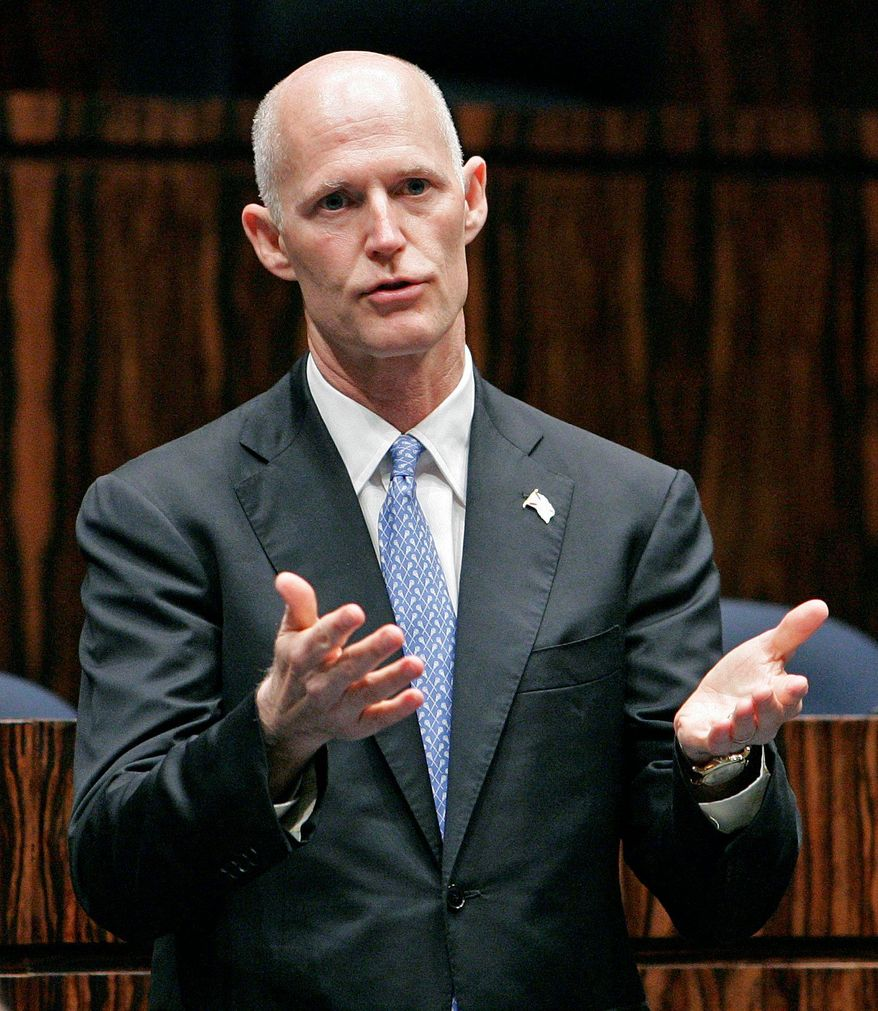 Florida Gov. Rick Scott angered many residents, including some lawmakers in his own party, when he returned $2.4 billion in federal funds for building a high-speed rail link between Tampa and Orlando. (Associated Press)