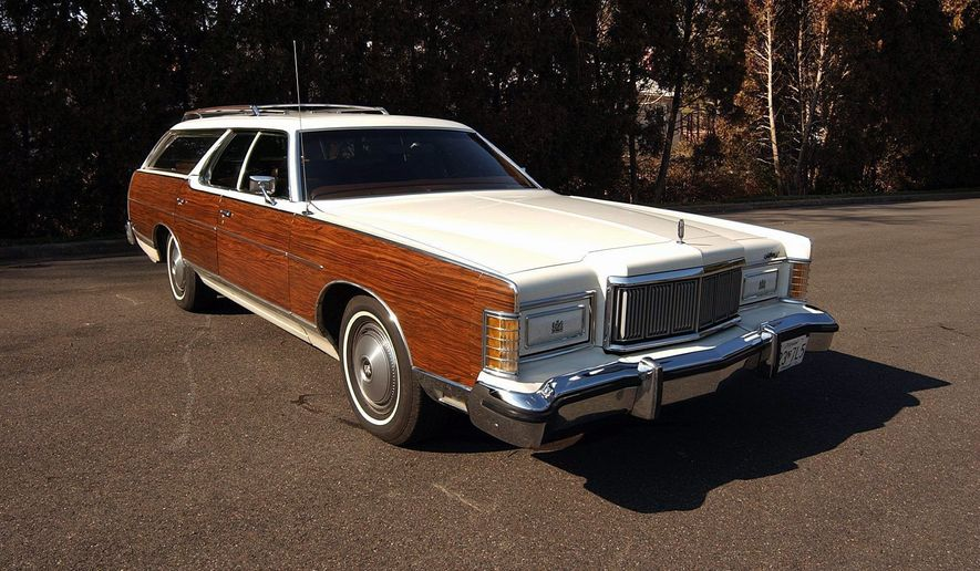 Being garaged saved the 30-year-old vinyl wood trim from fading. The 19-foot-long Mercury is one of the more luxurious station wagons.
