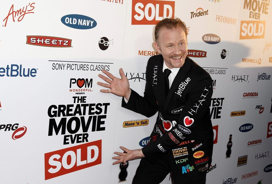 """Morgan Spurlock understands product placement. It's the subject of his documentary """"The Greatest Story Ever Told."""" (Associated Press)"""