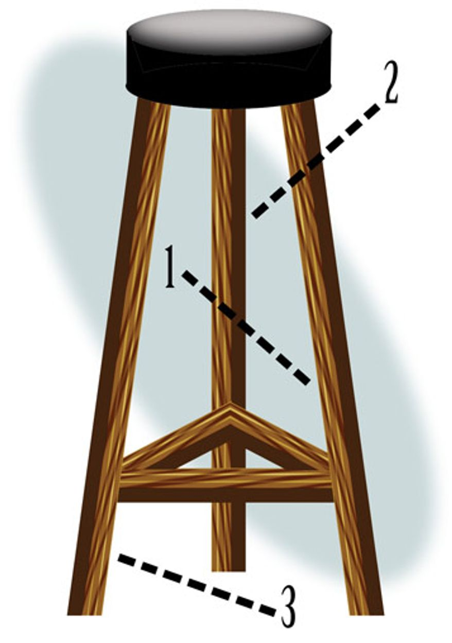 Illustration: Stool by Alexander Hunter for The Washington Times