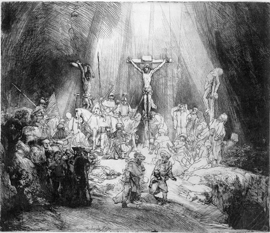 """The Three Crosses"" by Rembrandt"