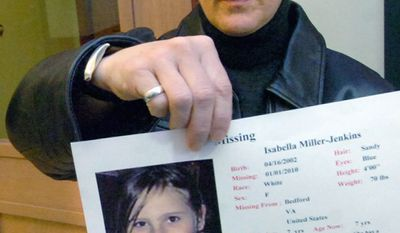 Janet Jenkins, of Fair Haven, Vt., shows a photo of her daughter, Isabella, who just turned 9. She has been involved in a same-sex custody battle with Ms. Miller for more than seven years in a case that has implications for parental rights and state laws on civil unions. (Associated Press)