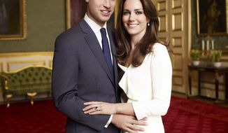 ROYAL BASH: Prince William and Catherine Middleton will marry Friday, but many Britons don't care. (Associated Press)