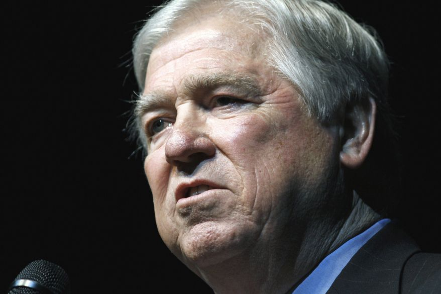 **FILE** Mississippi Gov. Haley Barbour speaks April 21 in Jackson, Miss. Barbour says he won't be a presidential candidate for 2012. (Associated Press)