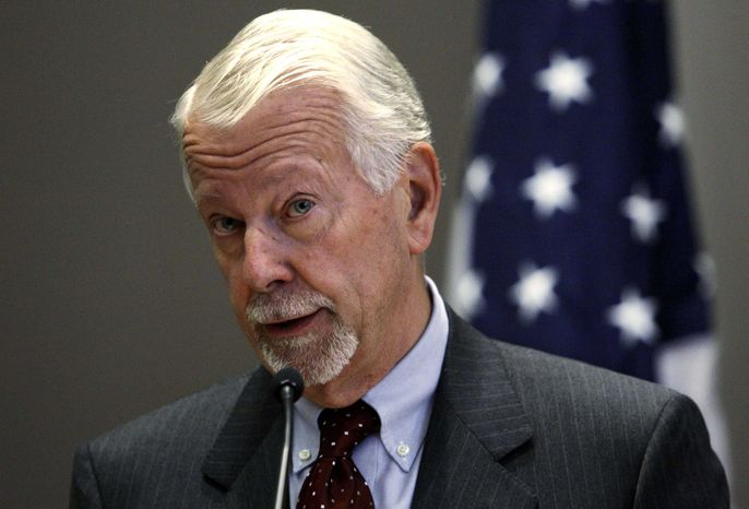 ** FILE ** Then-U.S. Chief District Judge Vaughn R. Walker of the Northern District of California speaks at a legal conference in Seattle in November 2010. (AP Photo/Elaine Thompson)