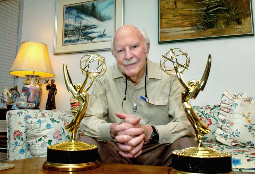 "Hubert ""Hub"" Schlafly helped invent the teleprompter and he won an Emmy Award for developing the first cable system that permitted subscribers to order special programs. ASSOCIATED PRESS"