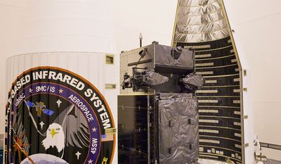 """Air Force Brig. Gen. Roger Teague says the launch next month of first GEO-1 Space-Based Infrared System satellite is """"the dawn of a new era in persistent overhead surveillance."""" (Lockheed Martin)"""