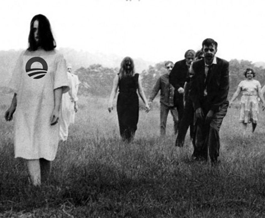 Illustration: Obama zombies