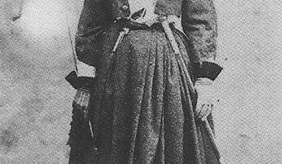 Confederate spy Belle Boyd is seen in an undated photo provided by the Berkeley County, W.V., Historical Society. Boyd used her feminine charms to spy on Union soldiers for the Confederacy.