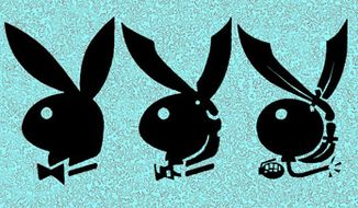 Illustration: Playboy by Alexander Hunter for The Washington Times