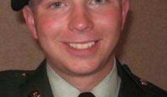 ** FILE ** Pfc. Bradley Manning (Associated Press)