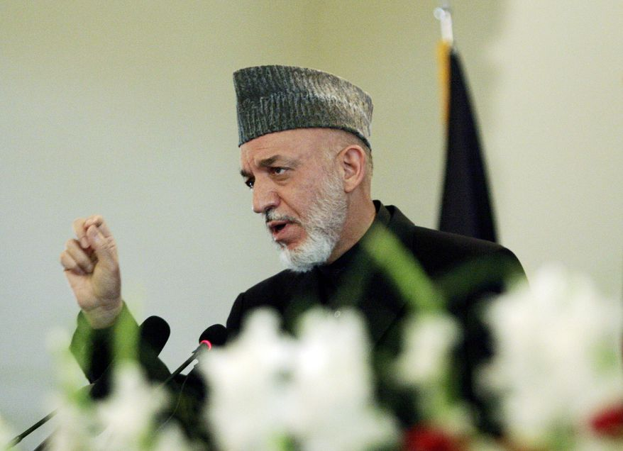 Associated Press Afghan President Hamid Karzai, addressing a gathering at the presidential palace in Kabul, Afghanistan, on Monday lauded Osama bin Laden's death as a serious blow to terrorism.