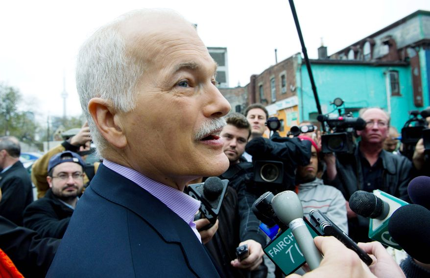 "New Democratic Party leader Jack Layton favors higher taxes and more social spending. ""We can change the government. We're not just going to oppose [Prime Minister Stephen] Harper, we're going to replace him,"" Mr. Layton said."