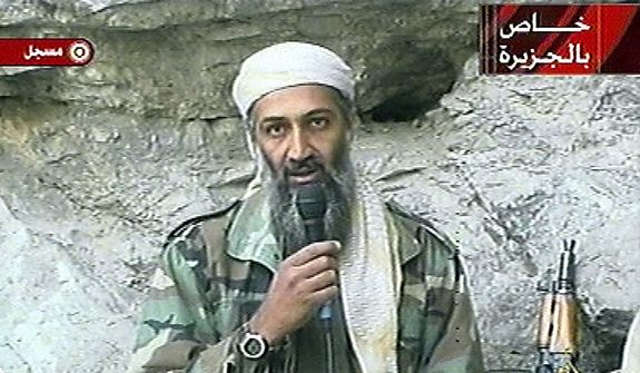 In this Oct. 7, 2011, file photo, Osama bin Laden is seen at an undisclosed location in this television image. A person familiar with developments said Sunday, May 1, 2011, that bin Laden is dead and the U.S. has the body. (AP Photo/Al Jazeera, File)