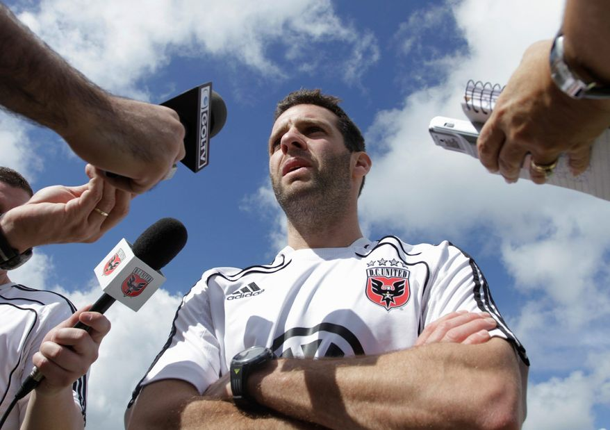 ASSOCIATED PRESS D.C. United coach Ben Olsen quite often is in a joking mood, but he was all business with his team at its first training session since dropping a 4-1 decision at Houston on Friday.