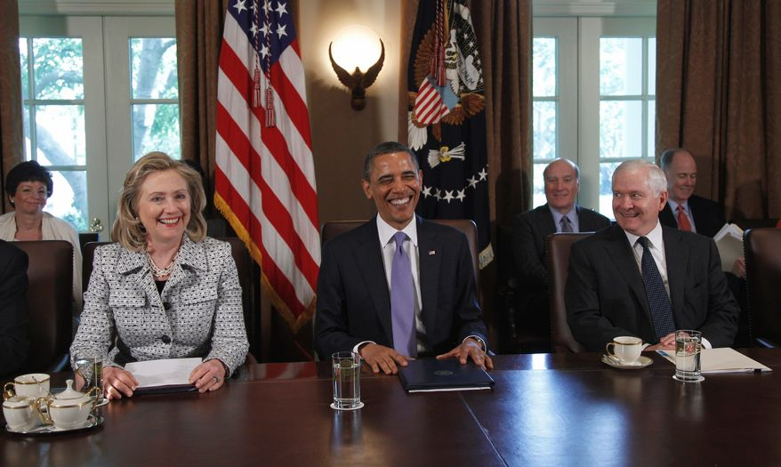 ASSOCIATED PRESS President Obama met with Cabinet members including Secretary of State Hillary Rodham Clinton and Defense Secretary Robert M. Gates. The administration will release a photo of the body of Osama bin Laden, CIA Director Leon E. Panetta indicated.