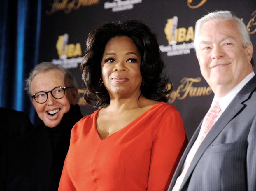 ASSOCIATED PRESS PHOTOGRAPHS Talk-show host Oprah Winfrey is a new member of the Illinois Broadcasters Association Hall of Fame, having been inducted Tuesday in a ceremony in Chicago.