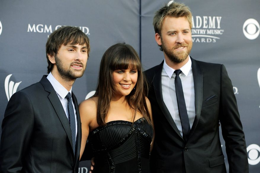 Lady Antebellum is nominated for three CMT awards; its members (from the left) are Dave Haywood, Hillary Scott and Charles Kelley.