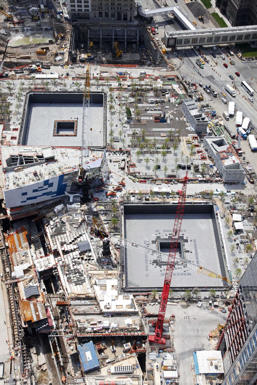 **FILE** The National September 11 Memorial and Museum, under construction, is seen here May 3, 2011, at the World Trade Center site in New York. (Associated Press)