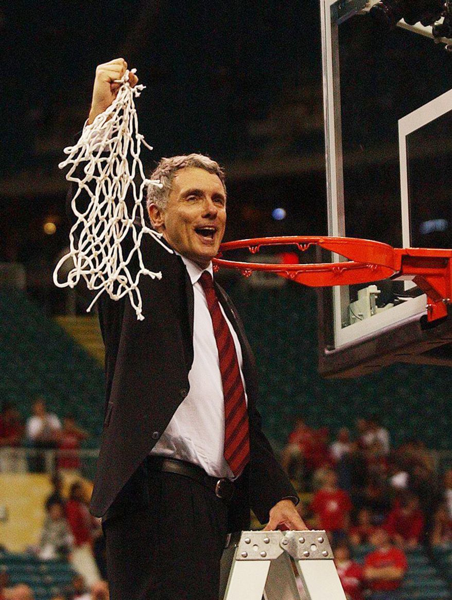 'IT'S THE RIGHT TIME': Gary Williams' firebrand style of coaching defined Maryland basketball since he arrived in College Park in 1989. (The Washington Times)