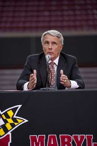 """""""In terms of, 'Why now?', it's just a gut feeling more than anything else,"""" Coach Gary Williams told the crowd about his retirement from coaching at the Comcast Center in College Park, Md., on Friday, May 6, 2011. He said he still feels like he could coach, but he'd rather leave too early than too l(...)"""