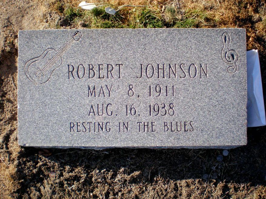 One of three headstones in the Mississippi Delta region that marks a suspected final resting spot for the blues guitarist.