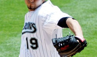 Marlins right-hander Anibal Sanchez struck out 11, walking none, in seven innings. He allowed just two hits.