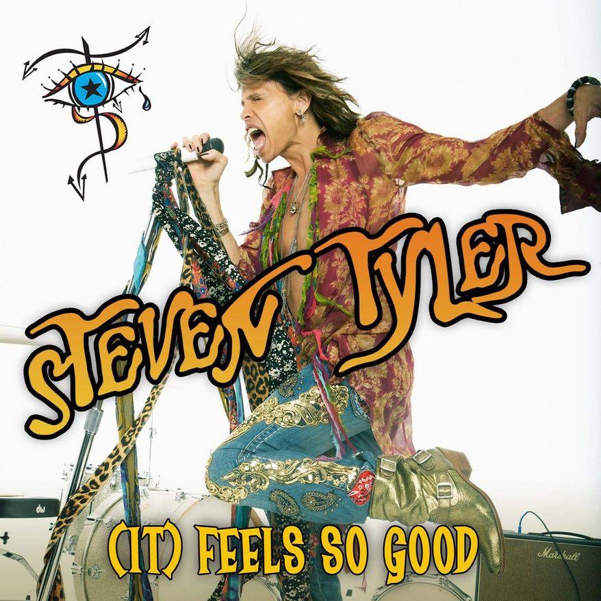 """Cover art for Steven Tyler's solo single """"It Feels So Good"""""""