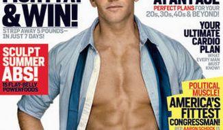 "MEN'S HEALTH Men's Heath magazine has dubbed Rep. Aaron Schock, Illinois Republican, ""America's Fittest Congressman"" and the ""ripped representative."""