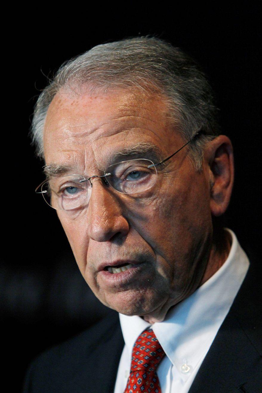 **FILE** Sen. Chuck Grassley of Iowa, the top Judiciary Committee Republican (Associated Press)
