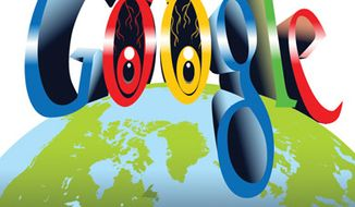Illustration: Google by Linas Garsys for The Washington Times