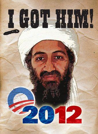 Illustration: I got Osama by Greg Groesch for The Washington Times