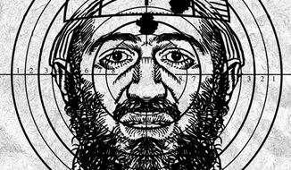 Illustration: Osama bin Laden by Alexander Hunter for The Washington Times