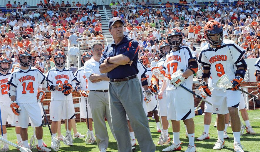 PETE EMERSON/VIRGINIA ATHLETICS Virginia lacrosse coach Dom Starsia has guided the Cavaliers through turbulent times in recent years, including the death of his father in 2010.