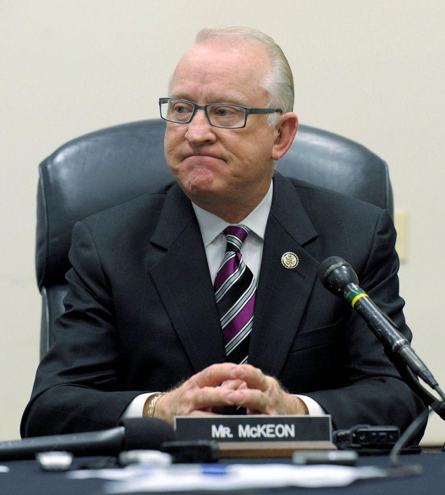 """Rep. Howard P. """"Buck"""" McKeon, California Republican"""
