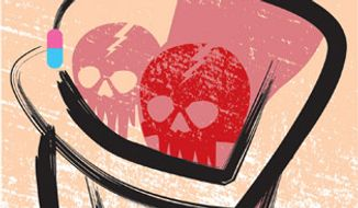 Illustration: FDA and cancer by Linas Garsys for The Washington Times